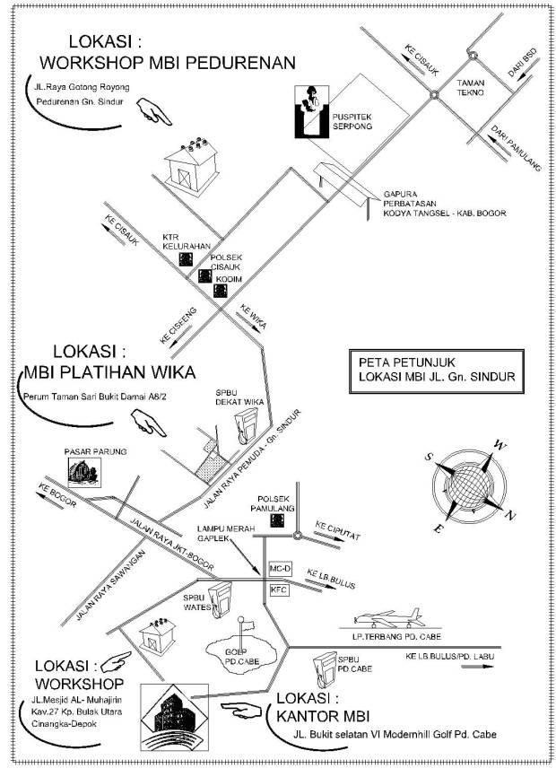 Peta LOkasi MBI WIKA
